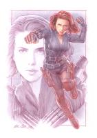 Mark Raats Black Widow Commission, Comic Art