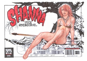 Mark Raats Shanna the She-Devil, Comic Art