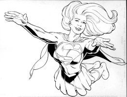 Supergirl DC In-House T-Shirt Design, Comic Art