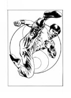 Bryan Hitch Shang-Chi (Marvel Knights Trading Card Art), Comic Art