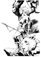 Chris Stevens Ka-Zar and Zabu Comic Art