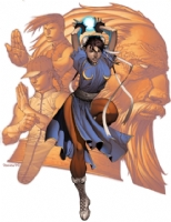 Chris Stevens Chun-Li (Final Colour Version) Comic Art