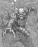 Creature by Scott Kolins Comic Art