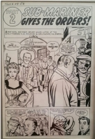 Fantastic Four #9 Splash Art by Jack Kirby Comic Art