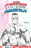 The Alll NEW Captain America Comic Art