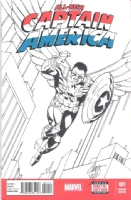 The New Flying Captain America Comic Art