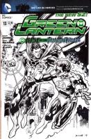 Blue Lantern Superman vs Green Lantern Hal Jordan!, Comic Art