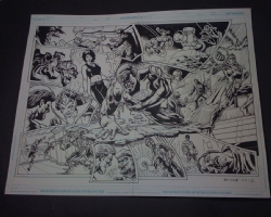 Death meets Green Lantern Comic Art