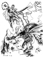Batman vs. Parallax!, Comic Art