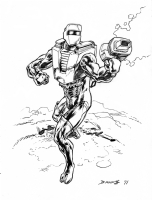 Rom: Space Knight Comic Art