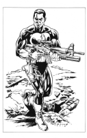 The Punisher on patrol Comic Art