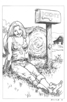 Wonder Girl at the Kent Farm Comic Art