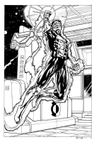 Green Lantern Kyle Rayner on Planet Oa Comic Art