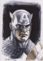 Captain America Portrait Comic Art