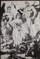 JLA Jam Piece - Jim Lee & Friends Comic Art