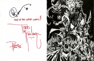 Spawn Signed By Todd McFarlane, Comic Art
