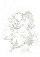 HellBoy Sketch' 06, Comic Art