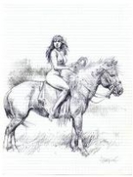 Serpieri - Indian on horseback - Gone, but not forgotten Comic Art