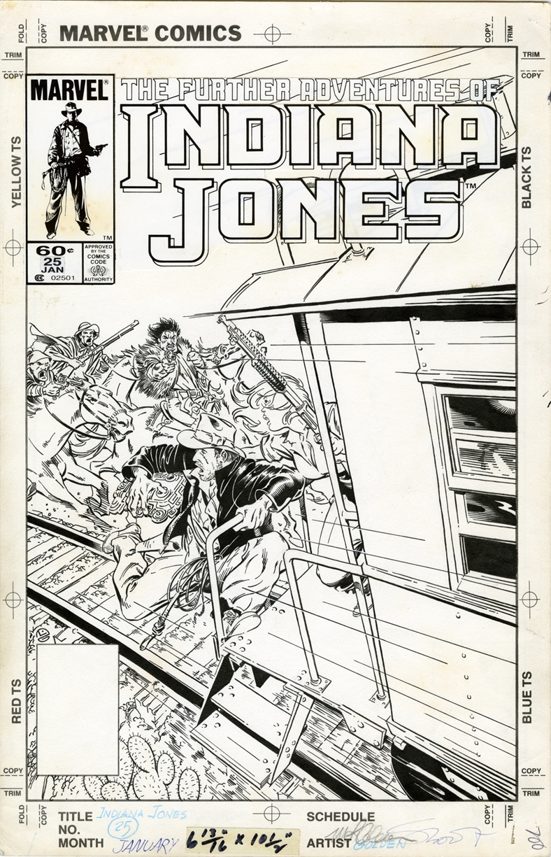 Michael Golden - Indiana Jones: Marvel - The Further Adventures of Indiana Jones � Cover 25 Comic Art