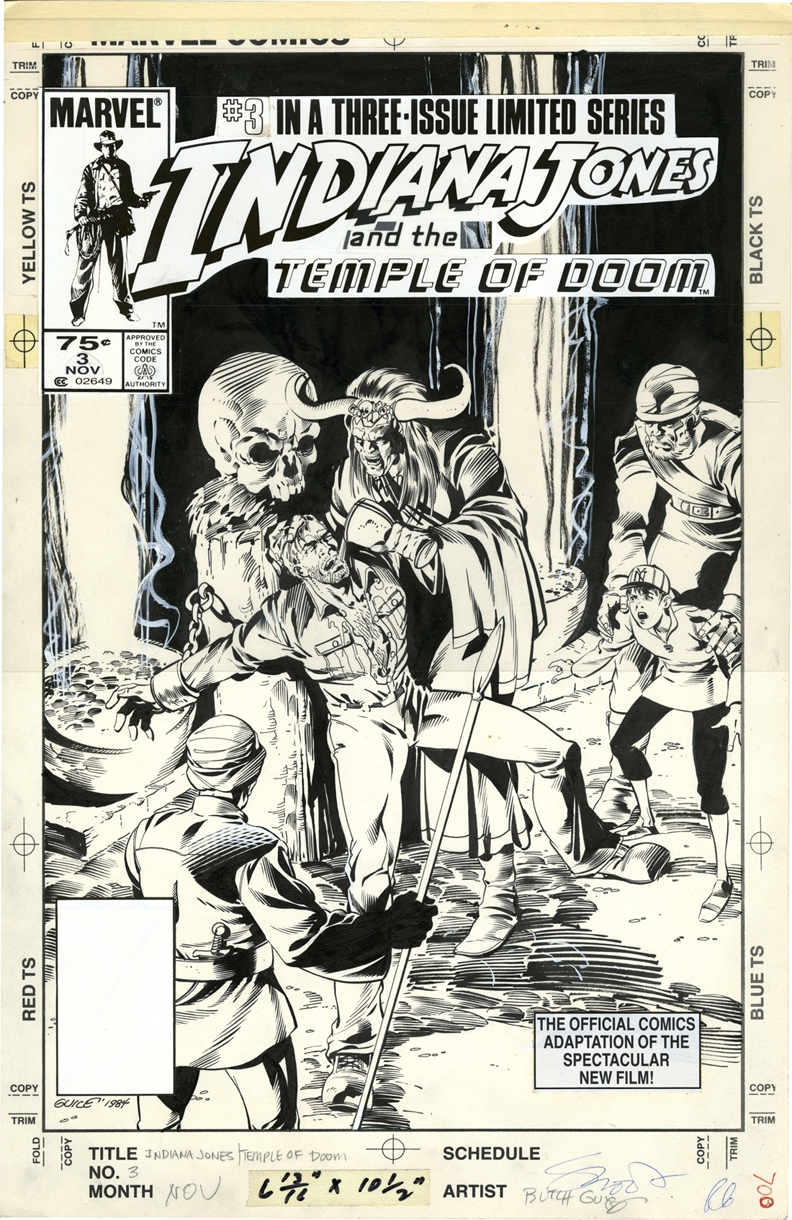 Butch Guice - Indiana Jones: Marvel - Indiana Jones and the Temple of Doom � Cover 3 Comic Art