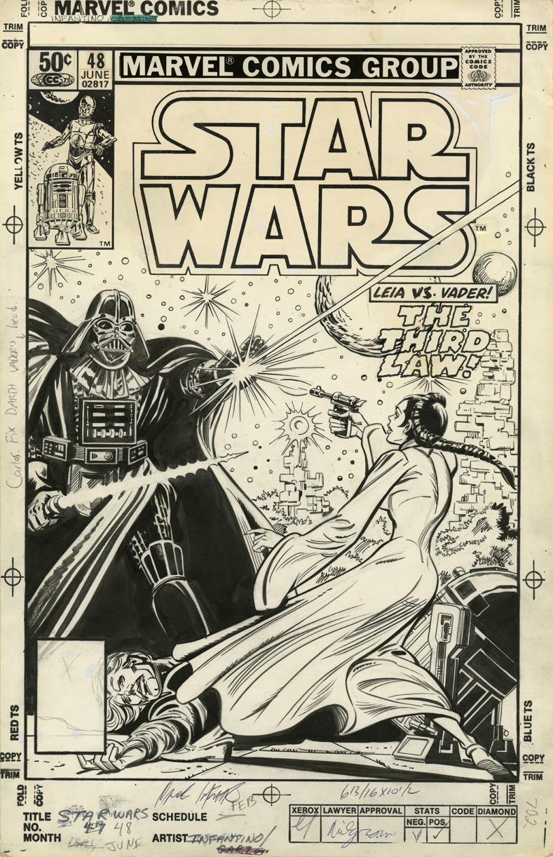 Carmine Infantino & Bob Wiacek - Marvel: Star Wars � Cover 48 Comic Art