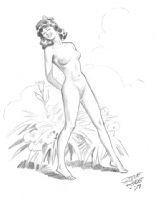 029 Nude With Flowers ~ Rude Comic Art