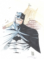 Old Man Batman Comic Art