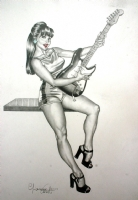 Casotto - Guitar woman, 2006. Comic Art