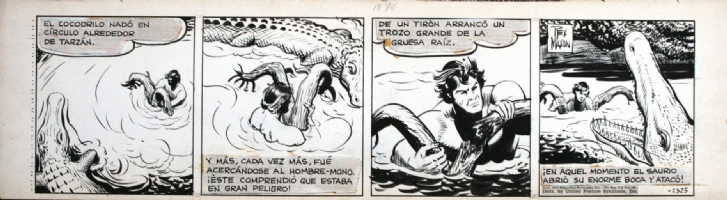 Rex Maxon - Tarzan strip 2325, 1947 Comic Art