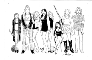 Strangers in Paradise 2010 Print - The SIP Girls Comic Art