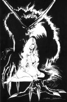 Samuel Clark Hawbaker SHE-WOLF (SOLD) Comic Art