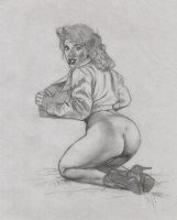 Dave Stevens  SO ROUND...SO FIRM....  Pencils Comic Art