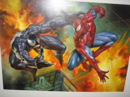 Venom Vs Spiderman By Julie Bell  Comic Art