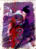 Bill Sienkiewicz - Lone Wolf and Cub Trade cover Comic Art
