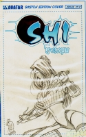 Shi Sempo 1/2 Sketch Cover Edition  Comic Art