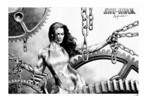 She-Hulk print by Jay Anacleto Comic Art