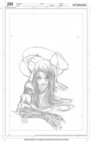 Witchblade Trading Card to be inked by Jimmy Comic Art