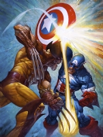 Captain America vs Wolverine Original Art Comic Art