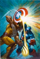 Greg Staples Captain America Versus Wolverine Comic Art