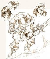CONAN THE CIMERIAN SKETCH, Comic Art