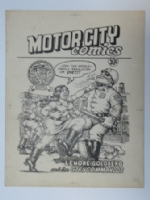 MotorCity Comics cover Comic Art