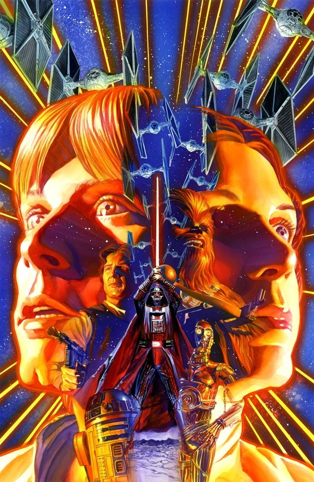 Alex Ross Star Wars #1 cover Comic Art