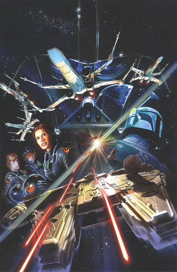 Alex Ross -Star Wars #2 cover Comic Art