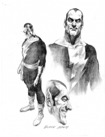AlEX ROSS -Black Adam  Design rough-Justice Comic Art