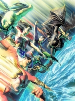 JLA-Alex Ross WGH-cover Comic Art