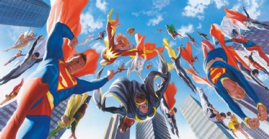 Alex Ross--New Krypton cover Comic Art