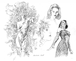 AlEX ROSS -Poison Ivy  Design rough-Justice Comic Art