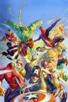 Alex Ross - Secret Wars cover. Comic Art