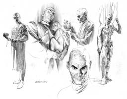 AlEX ROSS -Brainiac Sketch-Justice Comic Art