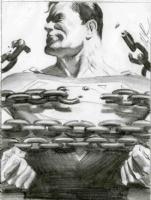 AlEX ROSS -' Milk ad layout tight sketch Comic Art